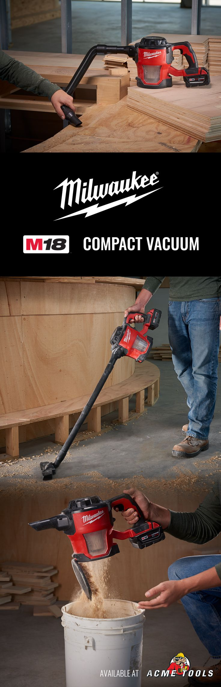 Get Milwaukee's M18 Cordless, Handheld Vacuum at Acme Tools.
