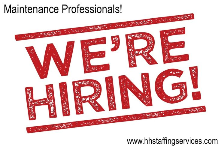 HOT JOB OF THE DAY: Maintenance Positions!  Our Orlando, Sarasota and Tampa offices are hiring for our property management division. We are looking for qualified candidates for:  - Maintenance Supervisor - Maintenance Tech's - HVAC Tech's  Don't miss these temp to hire opportunities in southern Florida. Please email your resume to jobs@hhstaffingservices.com. We can't wait to hear from you!