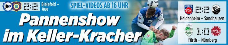 Zweite Liga: Wer gewinnt den Abstiegskracher?  Bielefeld http://www.bild.de/bundesliga/2-liga/saison-2016-2017/spielbericht-arminia-bielefeld-gegen-fc-erzgebirge-aue-am-23-Spieltag-46887382.bild.html All: http://www.bild.de/bundesliga/2-liga/home-2-bundesliga-fussball-news-31035914.bild.html