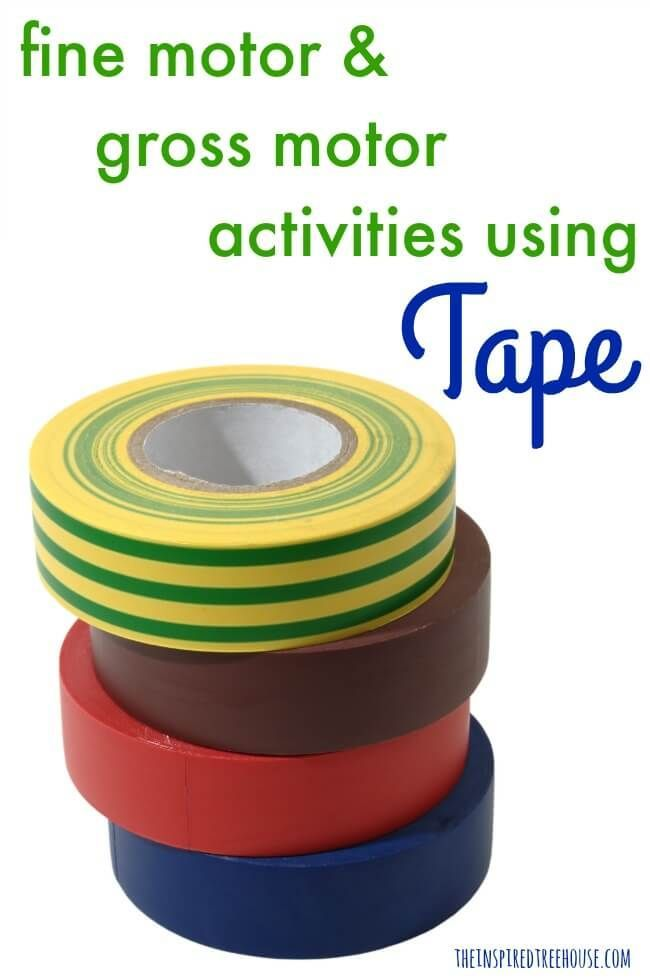The Inspired Treehouse - Check out these fun activities with tape!  Perfect for building fine and gross motor skills!