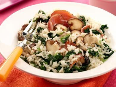 Risotto met spinazie en champignons (Libelle Lekker!)
