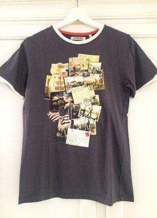 Kaufe meinen Artikel bei #Mamikreisel http://www.mamikreisel.de/kleidung-fur-jungs/kurzarmelige-t-shirts/35618727-braunes-shirt-mit-nostalgischem-print-von-e-bound