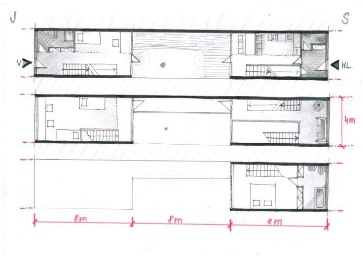 koncept,plans patio house 3,6 m