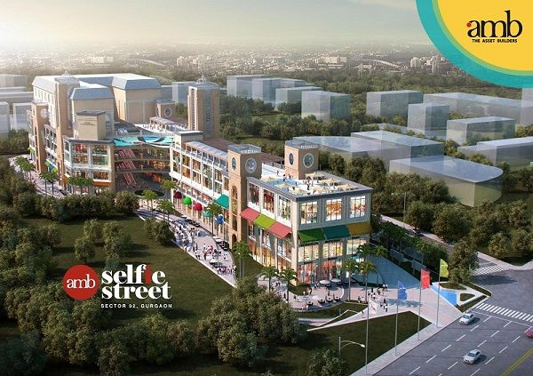 AMB Selfie Street is a new commercial by AMB group, located in the heart of 1000 acres of DLF Garden City. Offering bank spaces, ATMs, Shops, Food court etc. JLL is a leasing partner. Call now for Bookings : 9958959599.