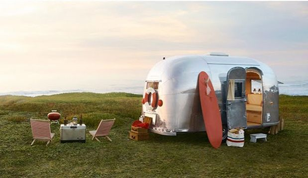 If you like vintage campers, you are going to LOVE getcampie.com - more photos of this Airstream cutie pie in the link