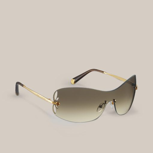 Lily Mask With their rimless mask shape enhanced by delicate laser-cut petals on the lenses, these lightweight sunglasses are a glamorous and feminine accessory.