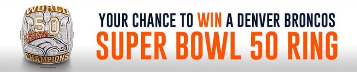 Win your own personalized Super Bowl Ring! ARV: $2,500