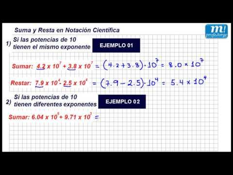 SUMA Y RESTA EN NOTACIÓN CIENTÍFICA - Ejemplo 01 - YouTube