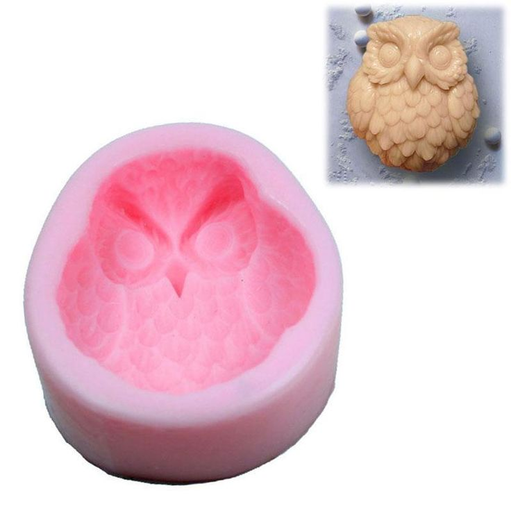 Handmad Candle Cake Mould Tool Owl Silicone Soap Mold Craft Art Molds DIY #Unbranded