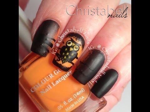 nail art - gufo di halloween #nailart