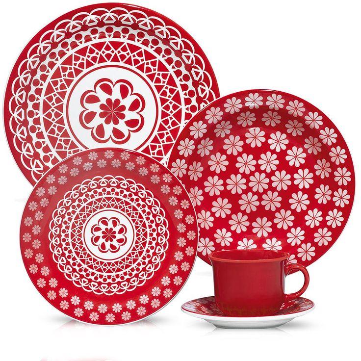 Aparelho de Jantar e Chá Oxford Daily 30 Peças Renda J591-6404 -Utilidades domésticas - De 21 a 30 peças - Walmart.com
