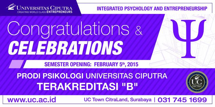 Congratulations and Celebrations Semester Opening Psychology Universitas Ciputra