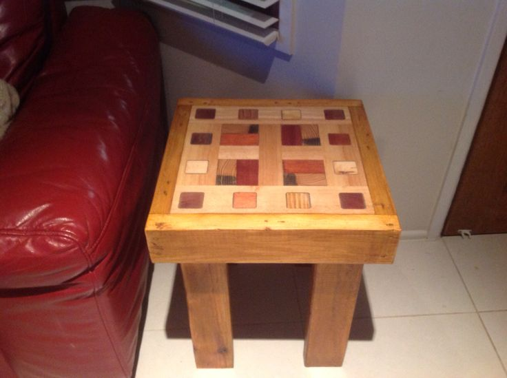 Unique rustic recycled wood table made by Touchwood Creations Sunshine Coast.