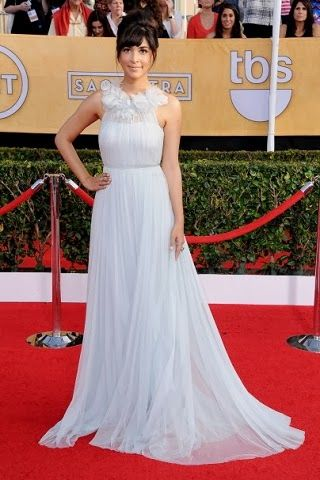 Hannah Simone in Marchesa http://fashionallovertheplace.blogspot.it/2014/01/20th-sag-awards-best-dressed.html