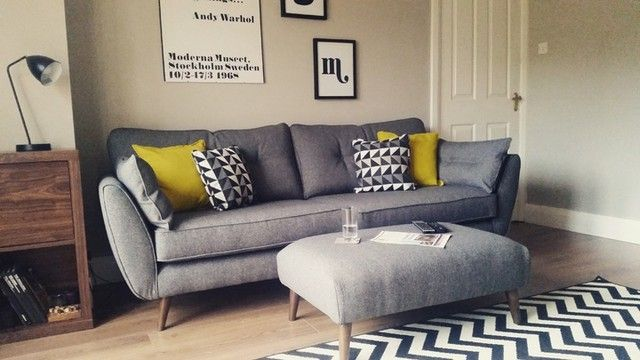 LOVE our new sofa #frenchconnection