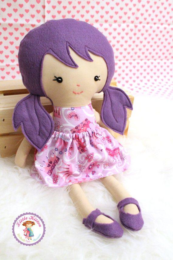Rag Doll Plush - Ruby - Ready To Ship