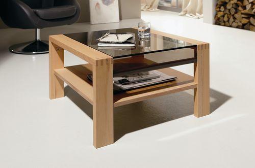 Table Basse Carré En Bois Avec Rangement : Table basse / contemporaine / en bois / avec rangement CT 120 hülsta