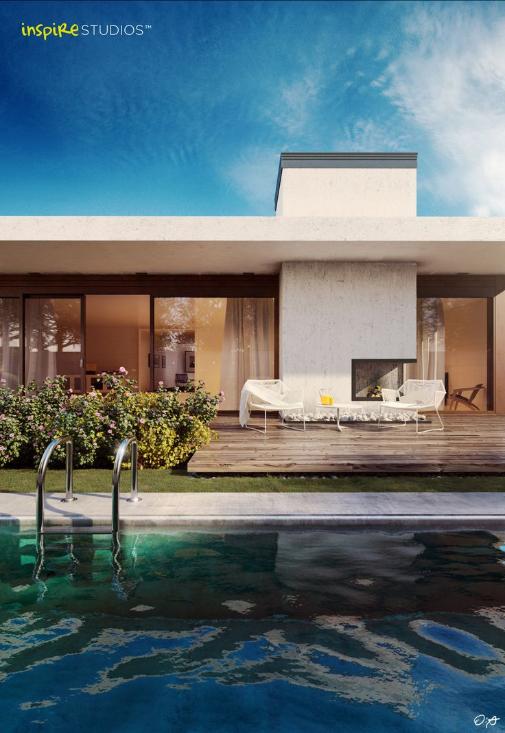 Functionalist house  A 3D visualisation