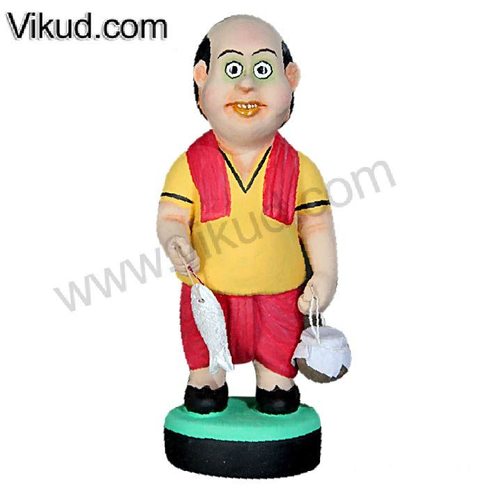 Terracotta-Fisher Man Doll- (7 Inches)