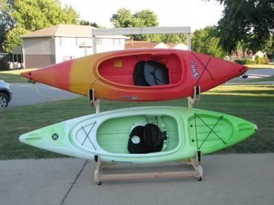 Homemade Kayak Storage Rack - I'm building this while I wait for my new kayaks to be delivered.