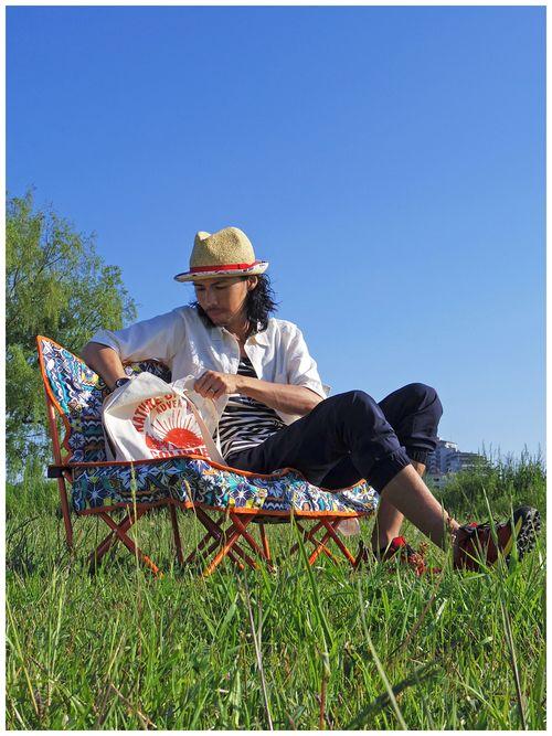 春以上真夏未満なピクニック風コーデ(*´∀`*)    ベージュのストローハットは夏感増しま