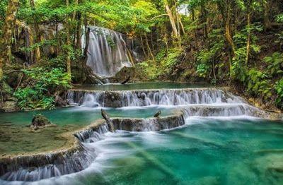 PERGIPEDIA  - Pesona  Air Terjun Mata Jitu Pulau Mojo Yang Mampu Membius Putri Diana . Keindahan ...