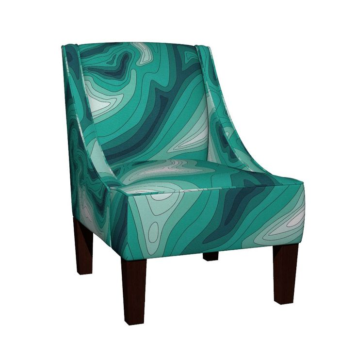 Ocean depth map Sloped Arm Chair by ravynka   Roostery Home Decor