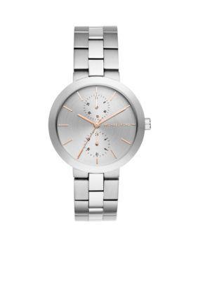 Michael Kors  Silver-Tone Garner Multifunction Watch