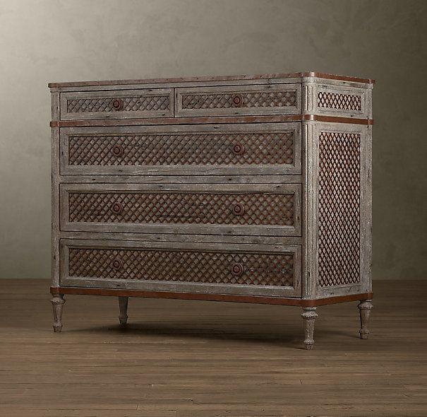 Louis XVI Treillage 5-Drawer Dresser