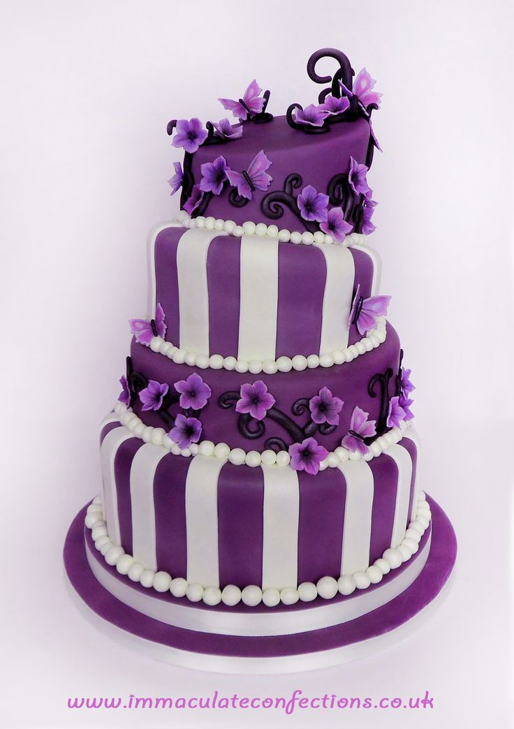 Purple Wedding Cake Pics