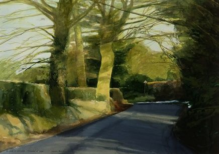 David Prentice A Lane in Colwall Traces of Snow