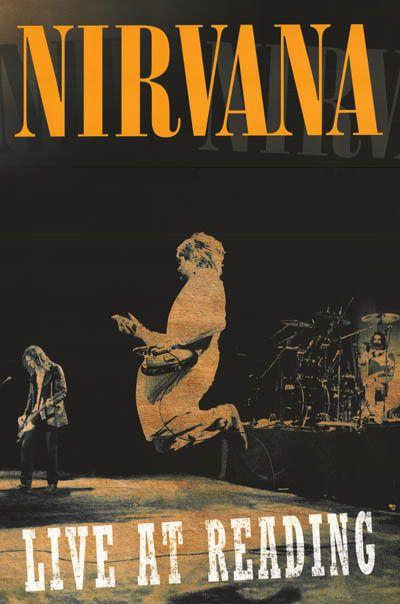 Nirvana Live at Reading Kurt Cobain Music Poster 24x36