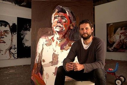 My art crush, Ben Quilty with a portrait of his Dad
