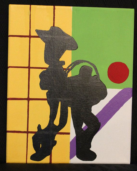 Check out this item in my Etsy shop https://www.etsy.com/listing/243857881/woody-and-buzz-silhouette-painted-on
