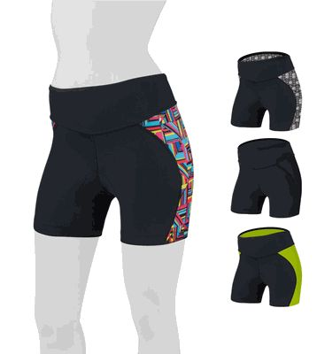 Goddess Padded Mini Bike Short - Fit and Slim Padded Cycling Shorts w 4 inch Inseams