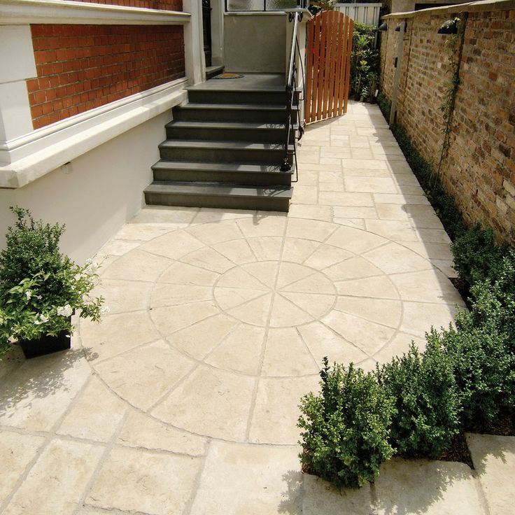 Weathered Limestone Old Town Circle Paving Pack (D)2.8M   Departments   DIY at B&Q