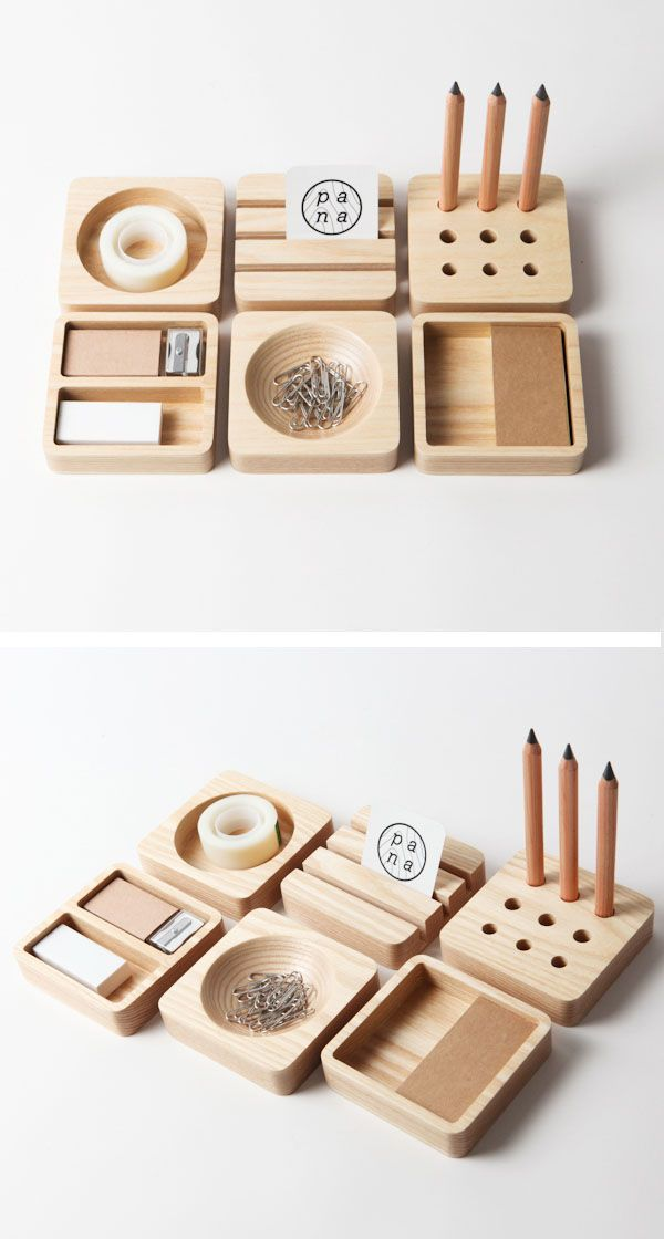 I wish that I had a stationary set like this!  The simple, clean forms and functional spaces would look great on either my office desk or on my work space at home. This stationary set has been created by Thai based design company, Pana Objects.  Made from white ash wood and entitled 'Tofu', the stationary …