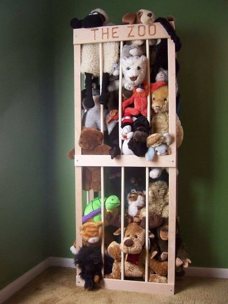Does your child have too many stuffed animals to fit in a single toy chest? Or you can't get them to put them away? Build them a stuffed animal zoo and see!