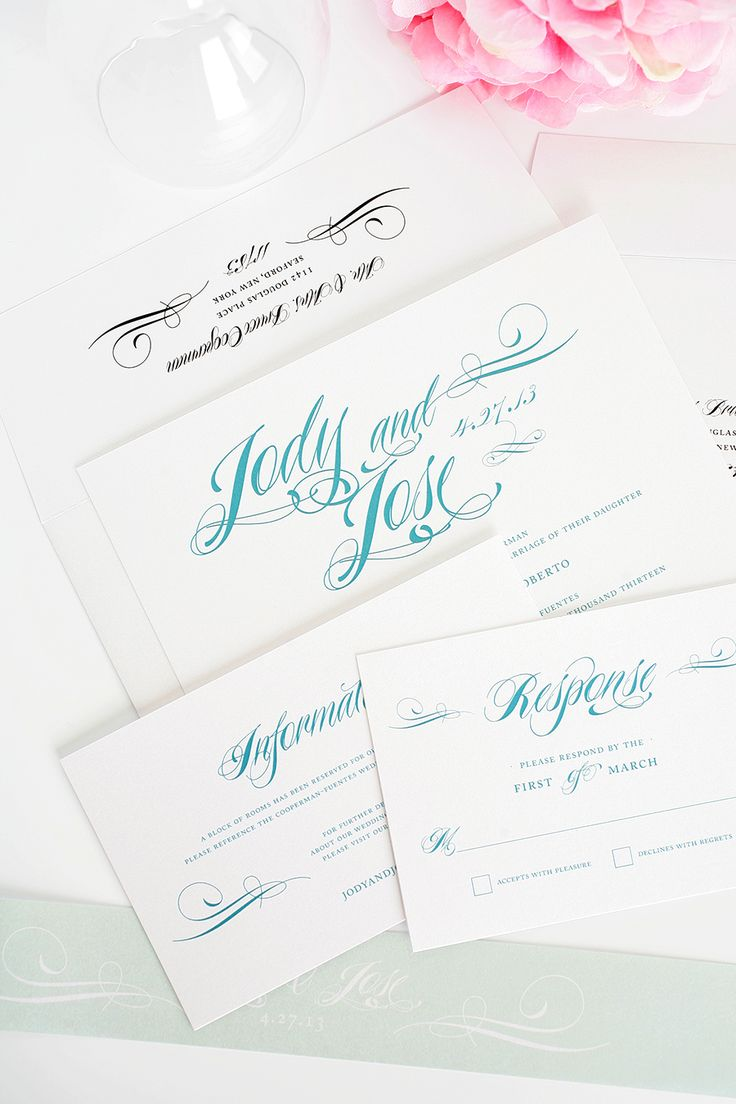 25 best images about teal wedding invitations on pinterest, Wedding invitations