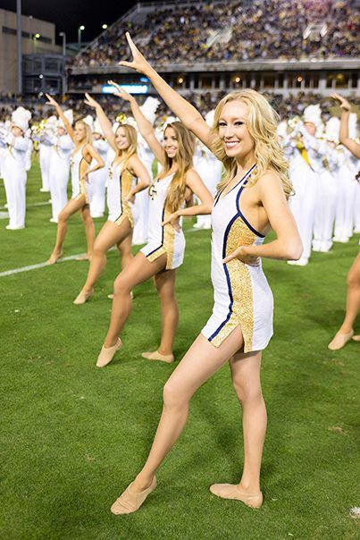 Team Spotlight: Georgia Tech's Positive & Spirited Goldrush Dance Team!  Love this collegiate cheer dress!  Check out more pics on the blog.