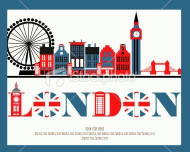London Royalty Free Stock Vector Art Illustration