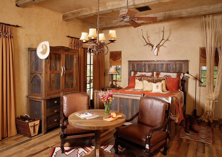 Neutral Southwestern Guest Room Stylish Western Home Decorating