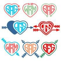 Arrow Hearts Svg Cuttable Designs