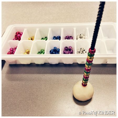 Math Centre: Patterning with Pipe Cleaners and Pony Beads