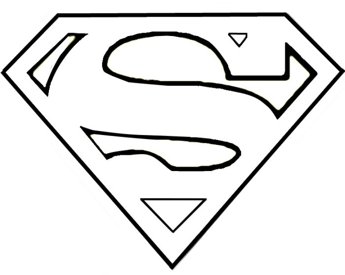 Superman Outline Thursday September 16 2010 Kids Room Ideas