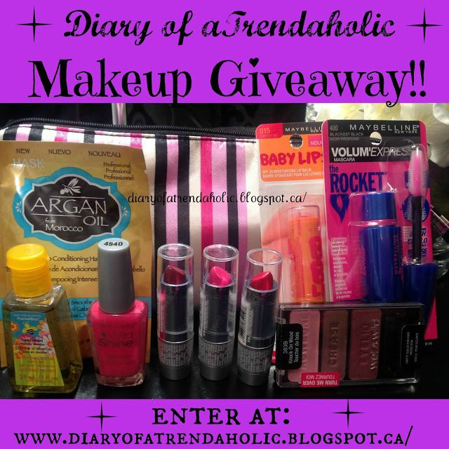 Come join Erica's giveaway... :D for more info click this link http://diaryofatrendaholic.blogspot.ca/2013/09/makeup-giveaway.html .. good luck