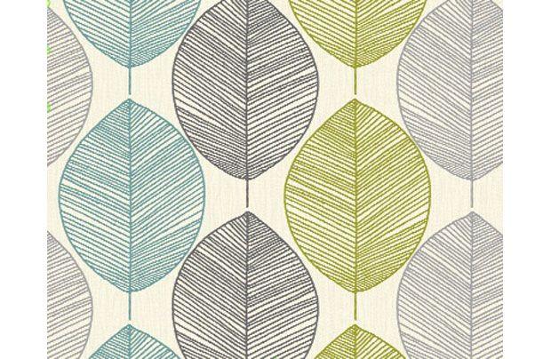 Arthouse Opera Retro Leaf Wallpaper - lounge