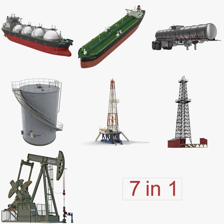 Oil Production Equipment Collection 2 3D model