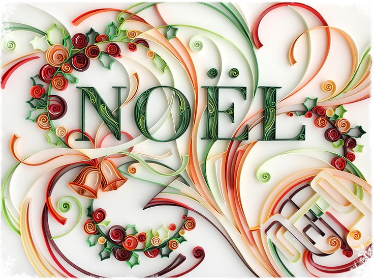 typography...very well donePaper Quilling, Christmas Cards, Holiday, Julia Brodskaya, Paper Art, Noel, Paper Design, Merry Christmas, Crafts