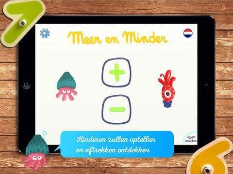 Meer en Minder  De marbotic houten cijfers zijn te bestellen via http://www.ictLESKISTEN.nl